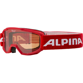Alpina Piney Goggles Kinderen, rood